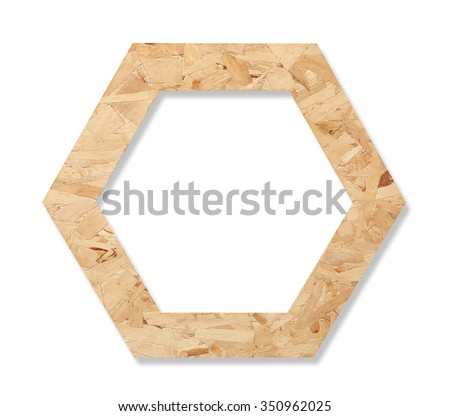hexagonal frame isolated on a white background