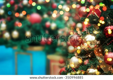 decorated Christmas tree  #350996885