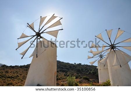Windmills in Crete #35100856