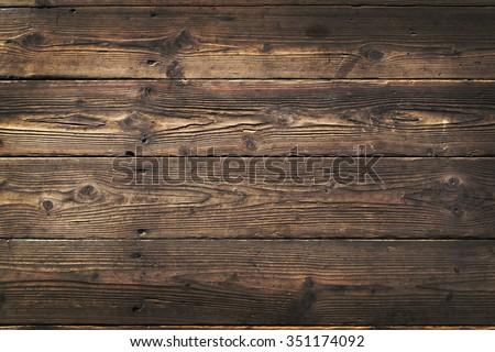 Wooden background. Texture with an old, rustic, brown planks Royalty-Free Stock Photo #351174092