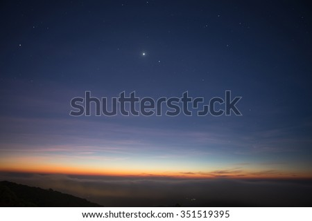 Star in the twilight sky Royalty-Free Stock Photo #351519395