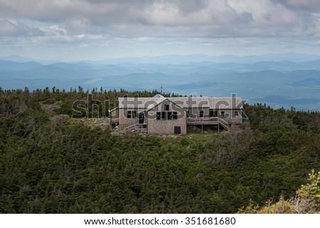 Lafayette's Greenleaf Hut, Mt. Lafayette, New Hampshire, USA. #351681680