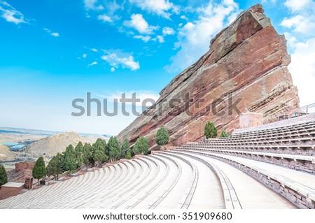 Historic Red Rocks Amphitheater near Denver, Colorado #351909680