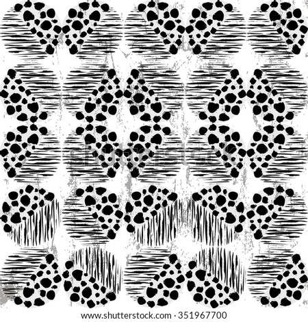 abstract pattern background, retro/vintage style, with circles, strokes and splashes #351967700
