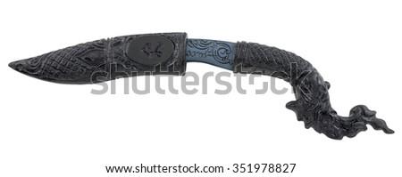 Asian Dagger isolated on white background #351978827