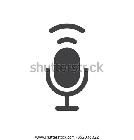 Microphone Icon vector flat design