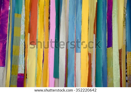 Multicolored rags #352220642