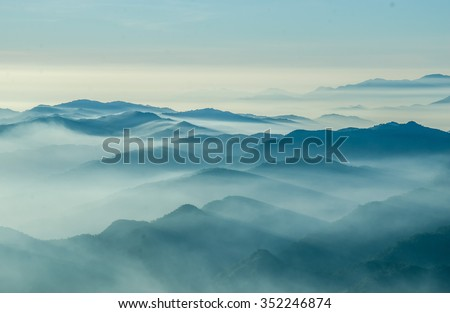 Layers of mountain,Thailand  #352246874