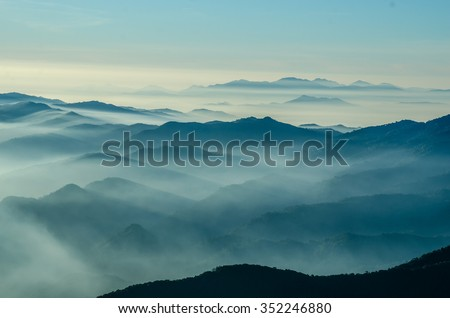 Layers of mountain,Thailand  #352246880