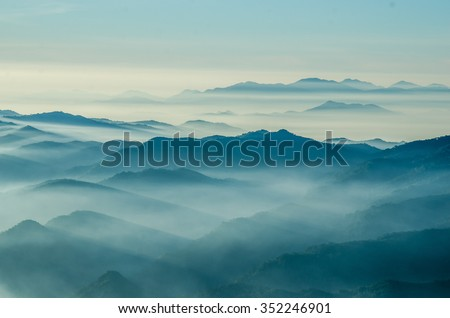 Layers of mountain,Thailand  #352246901