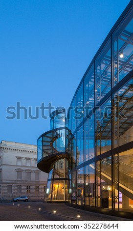 BERLIN, GERMANY February 10, 2014:German Historical (Deutsches Historisches) museum in Berlin, that was created by architect Ieoh Ming Pei between 1998 and 2003. #352278644