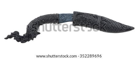 Asian Dagger isolated on white background #352289696