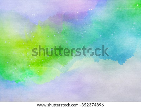 Abstract colorful water color for background. Digital art painting. #352374896