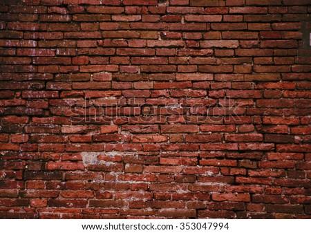 photo of Old grunge brick wall background #353047994