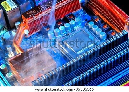 damaged electronic pc component #35306365