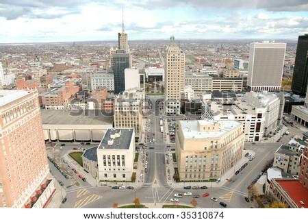 Buffalo Skyline from City Hall