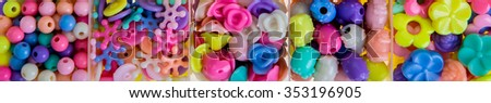 Various beads on white background #353196905