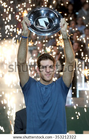 NETHERLANDS, ROTTERDAM - Febuari 17th 2013: at the Sportpaleis Ahoy During the world cup fieldhockey / hockey , Juan Martin del Potro wins the 40th ABN-AMRO ATP World Tennis Tournament #353212322