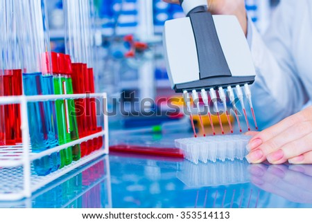 Woman in laboratory developed of vaccines #353514113