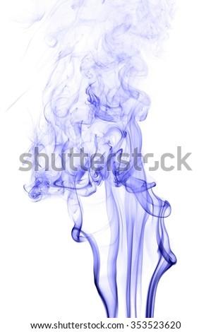blue colored smoke,blue smoke on white background,  blue smoke background,blue ink on white background #353523620