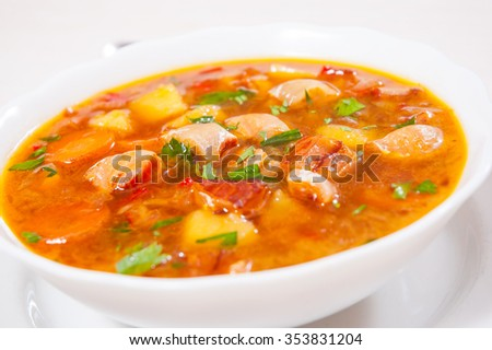Fish soup with vegetables #353831204