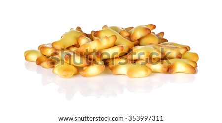 Star biscuits on white background #353997311