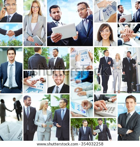 Collection of images with modern business people #354032258