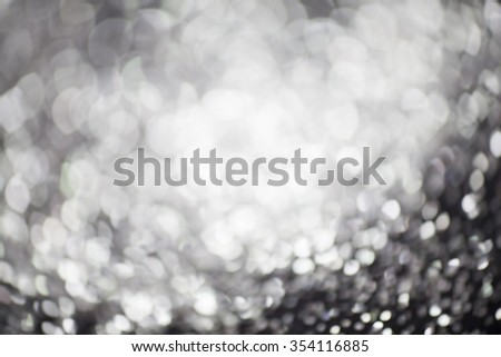 Silver Christmas and New Year bokeh, blinking background with copyspace #354116885