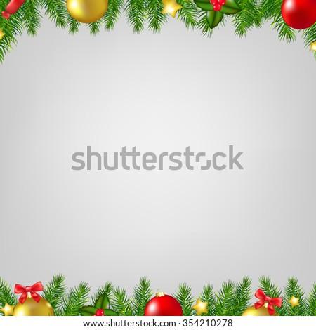 Xmas Fir Tree Borders Card  #354210278