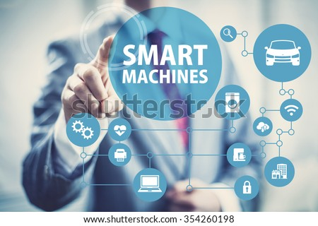 Smart machines concept image of intelligent devices and network. #354260198