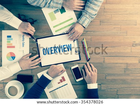 Business Team Concept: OVERVIEW Royalty-Free Stock Photo #354378026