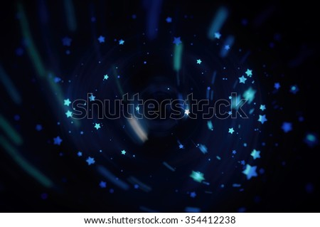 Blue bright abstract background with stars #354412238
