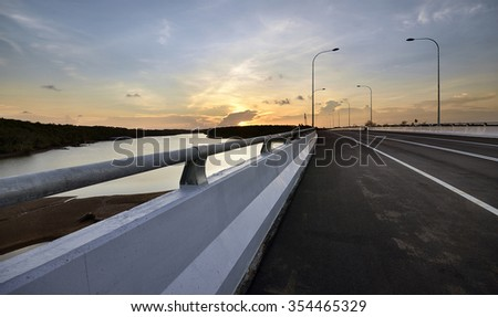 road and the sunset #354465329