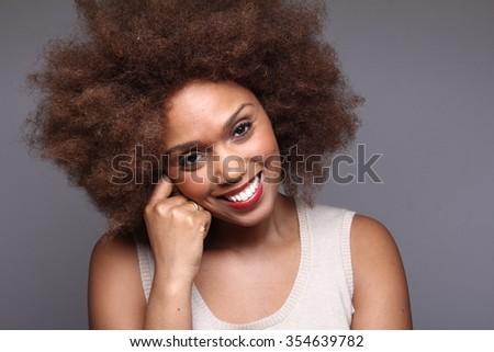 Beautiful afro woman #354639782