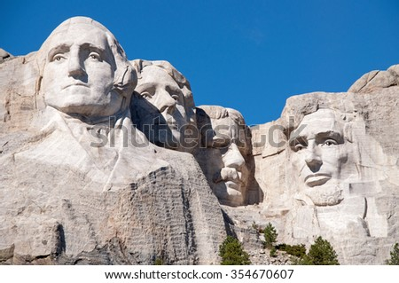 Mount Rushmore National Monument in South Dakota.  #354670607