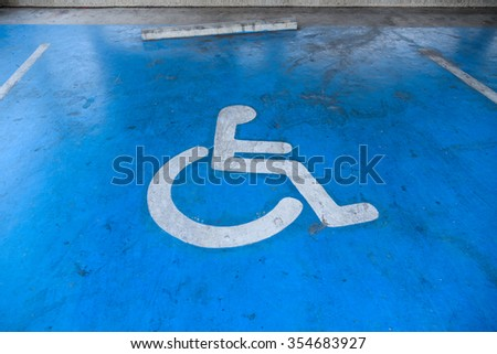 Disabled parking sign #354683927