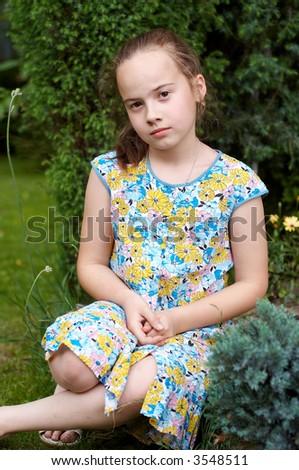 Girl in garden #3548511