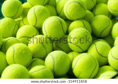 Tennis balls background #354911858