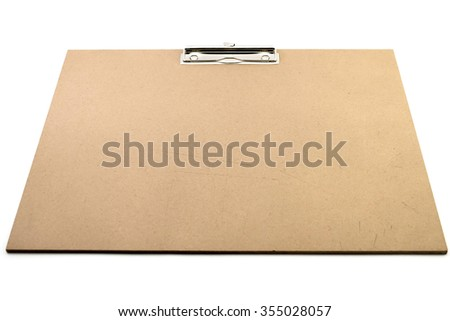 clip board on the white background #355028057