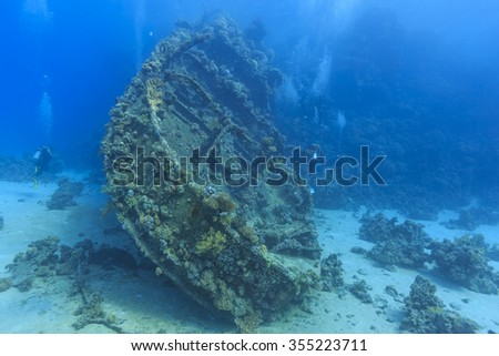 wreck in the Red Sea #355223711