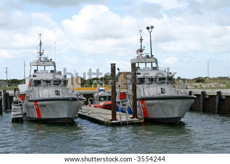 U.S. Coast Guard cutters at the dock #3554244