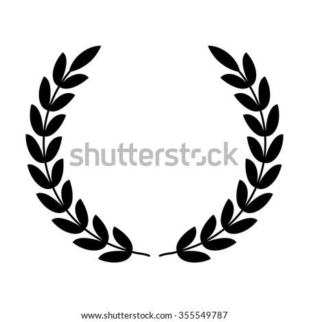 Laurel wreath - symbol of victory and power flat vector icon for apps and websites  #355549787