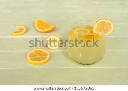 lemonade and lemon slice #355572065