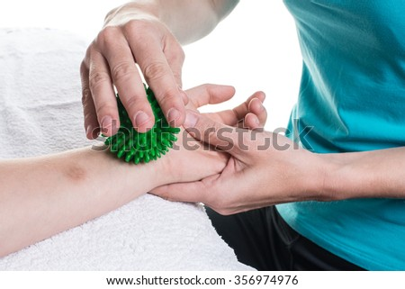 Occupational therapy close-up and different exercises #356974976