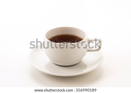 tea cup on white background #356990189