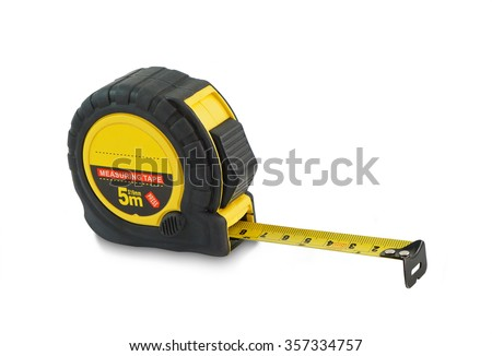 tape measure isolated on white background #357334757