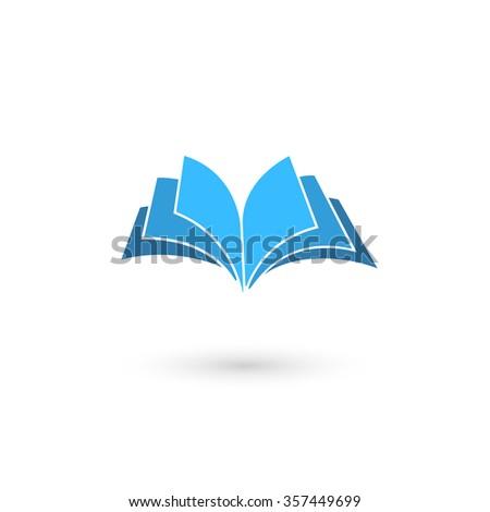 Illustration of book icon on white background.