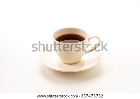 tea cup on white background #357473732