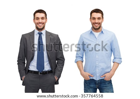 same man in different style clothes #357764558
