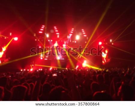 Blur shot of crowd on music concert #357800864